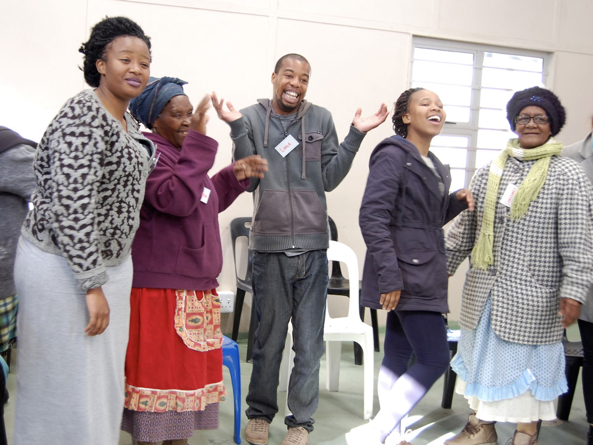 Laughter-all-around,-Intergenerational-workshop,-Philippi-2015