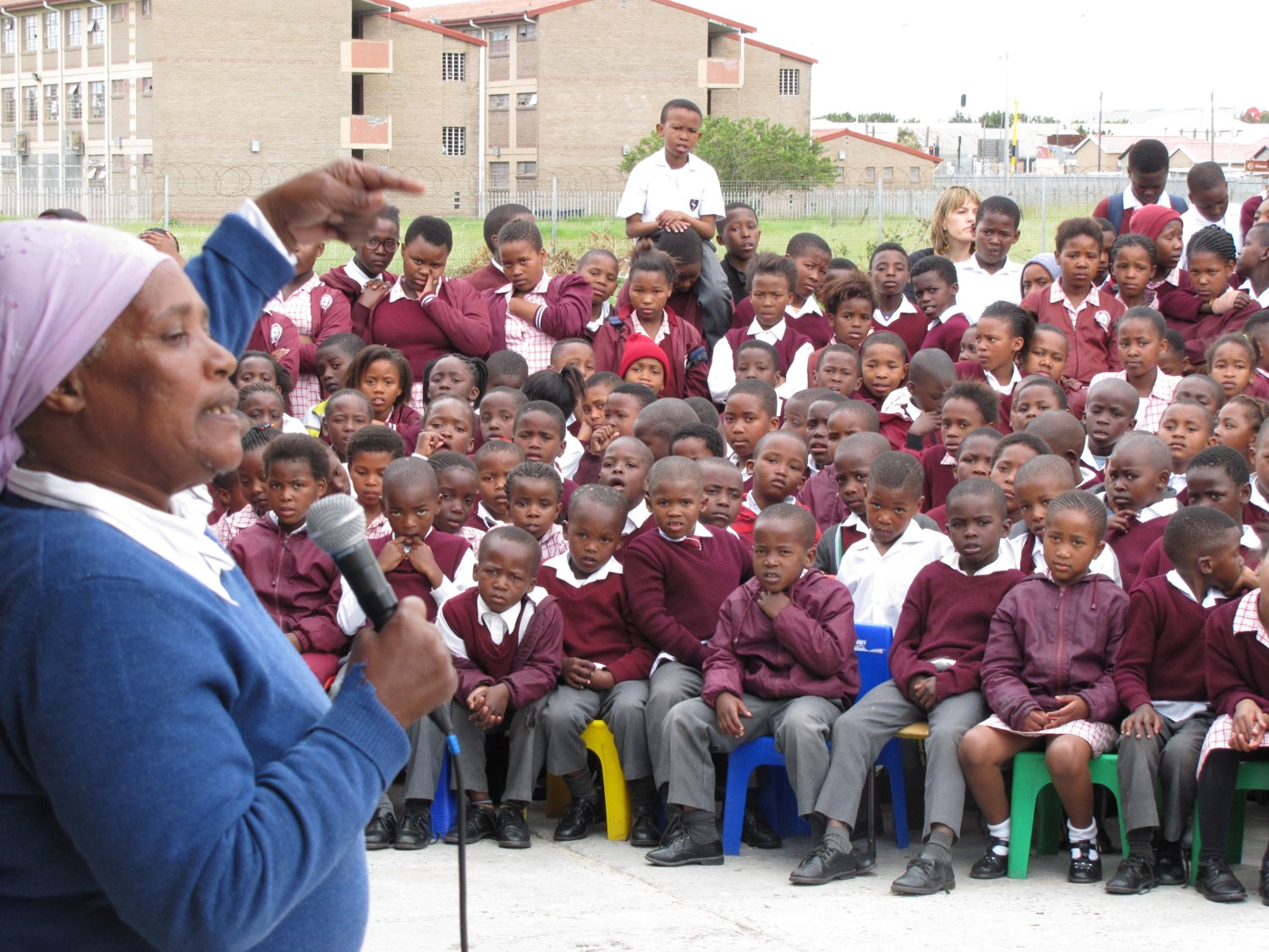 Listening faces, School Storytelling Tour, Khayelitsha 2015