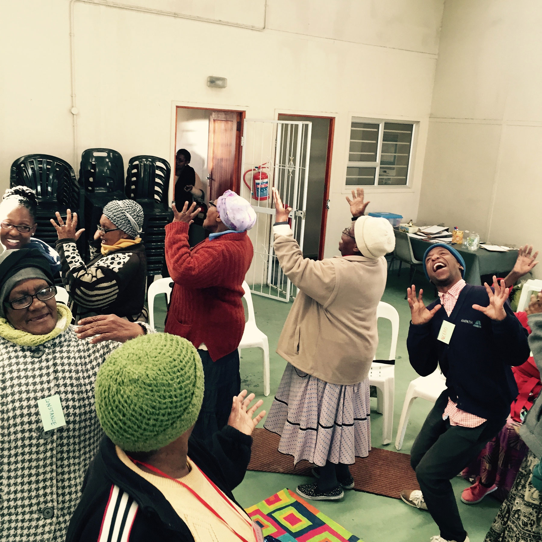 Warm-ups,-Intergenerational-workshop,-Khayelitsha-2015